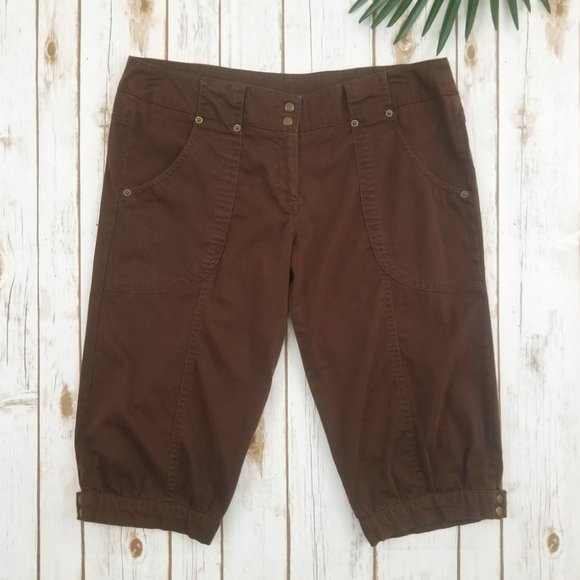 Nobo Harem Capri Pants Stretch Brown